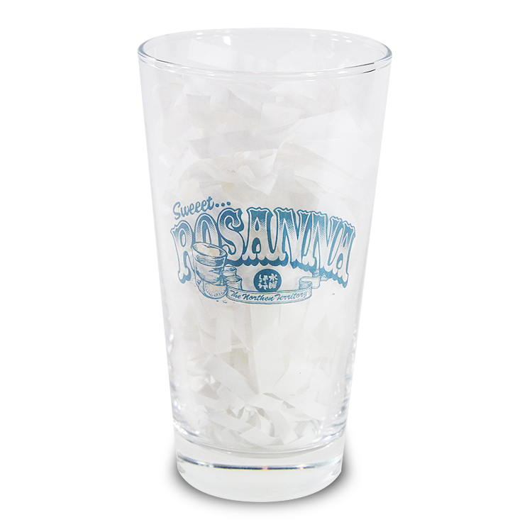 "ROSANNA"" PINT GLASS"