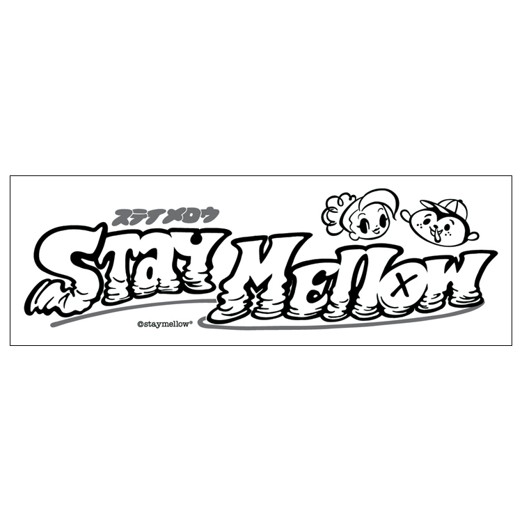 """STAYMELLOW logo"" PVC STICKER"