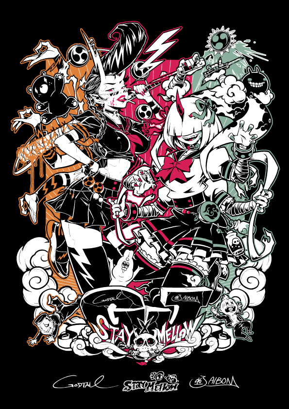 GODTAIL x JAIBON Collaboration T-shirt