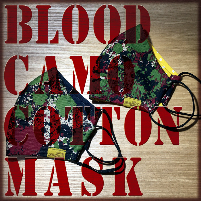 BLOOD CAMO COTTON MASK